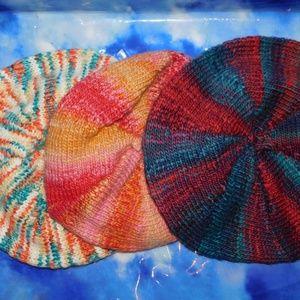 Free People Space Dye Raspberry Knit Beret